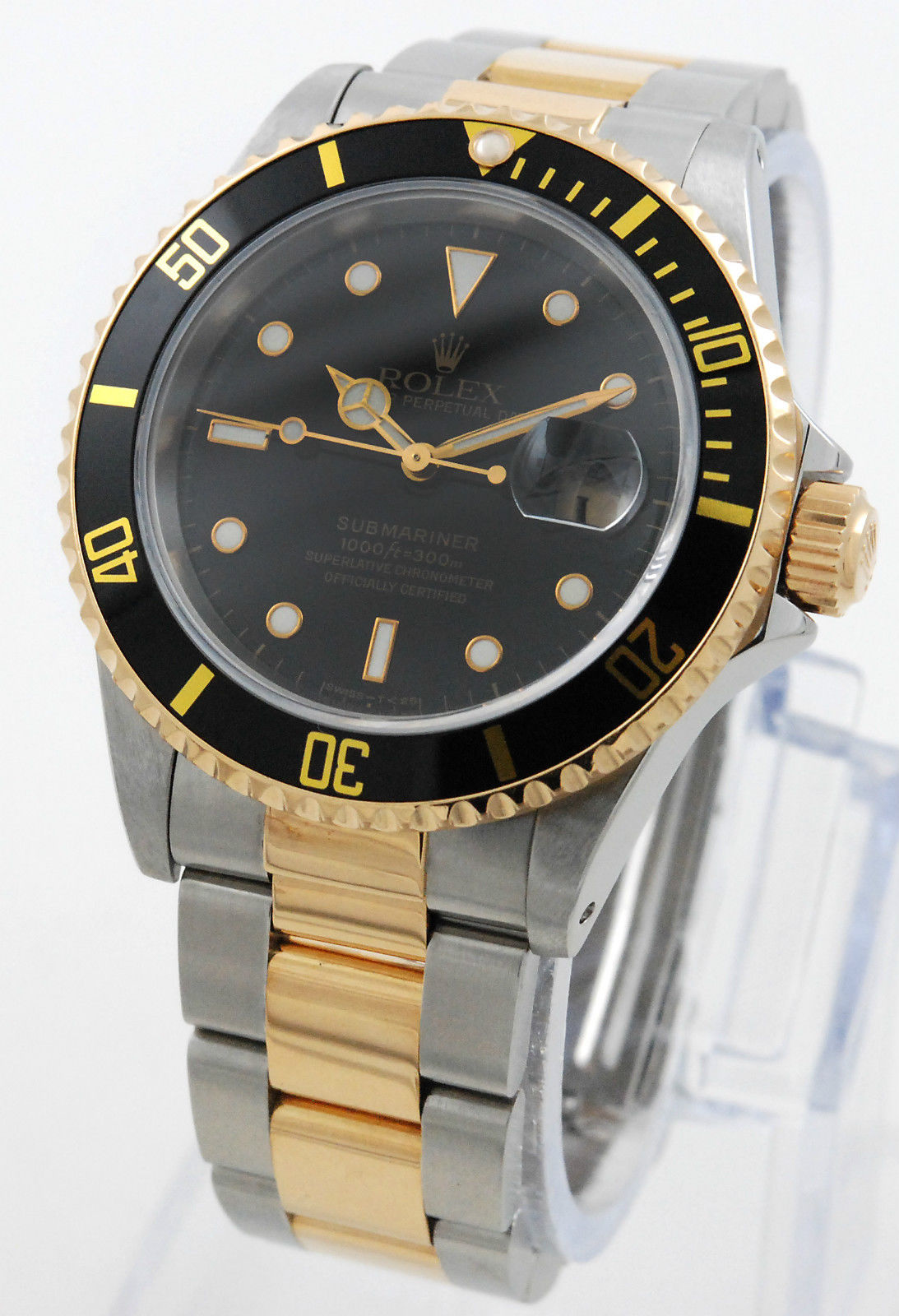 rolex submariner 16613 stahl gold mit box und papieren lc100. Black Bedroom Furniture Sets. Home Design Ideas
