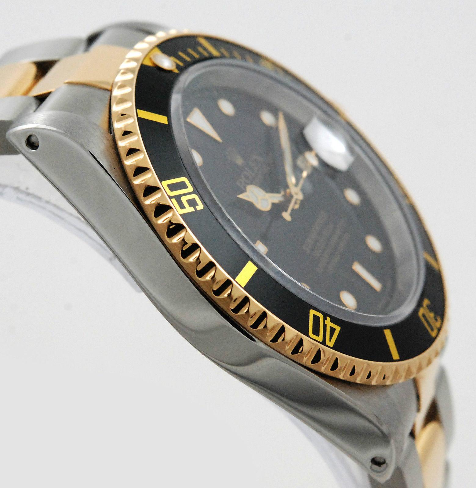 rolex submariner 16613 stahl gold mit box und papieren lc100. Black Bedroom Furniture Sets. Home Design Ideas