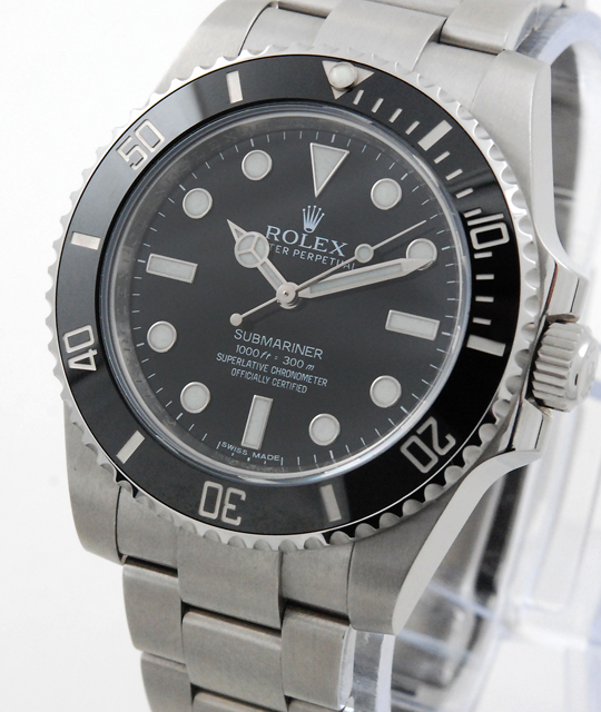 rolex submariner referenz 114060 lc100 aus 2014 random mit. Black Bedroom Furniture Sets. Home Design Ideas