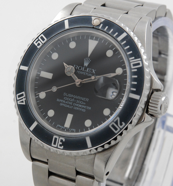 rolex submariner 16800 von 1983 big dial faded bezel ebay. Black Bedroom Furniture Sets. Home Design Ideas